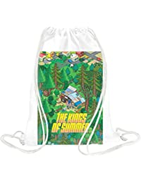 Kings Of Summer Poster Pixel Drawstring bag