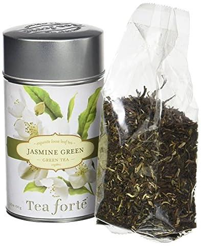 Tea Forte JASMINE GREEN Organic Loose Leaf Green Tea, 100 Grams Tin