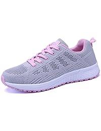 Vinstoken Zapatillas de Deportivos de Running Para Mujer Gimnasia Ligero Sneakers Negro Azul Gris Blanco 35-40