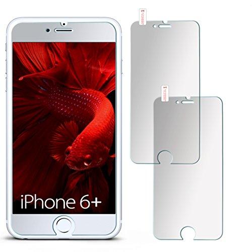 moex 2X 9H Panzerfolie für iPhone 6S Plus | Panzerglas Matt Glasfolie [Tempered Glass] Screen Protector Displayschutz-Folie für iPhone 6 Plus / 6S + Plus Schutzfolie Glas