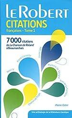 Dictionnaire de citations françaises - Tome 1 by Pierre Oster (2015-05-27) de Pierre Oster