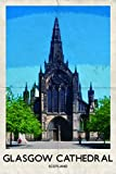 Glasgow Kathedrale Retro Poster Grußkarte