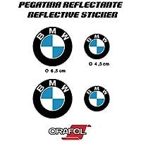 PEGATINA STICKER ADESIVO AUFKLEBER DECALS AUTOCOLLANTS BMW REFLECTANTE MOTO COCHE VINILO ALTA CALIDAD 4 unidades REF1
