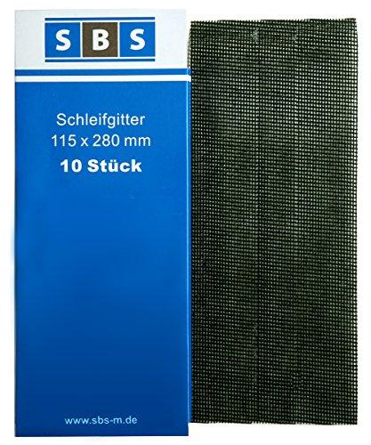 SBS Gitterleinen 115 x 280mm Schleifgitter 10 Stück Korn 180