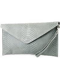 ModaModa de–Italiana. Piel Clutch Antebrazo bolso bolso para mujer de mano (piel de serpiente. T106S