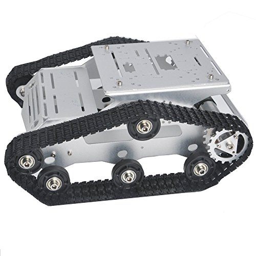 KOOKYE Roboter Auto Smart Tank Chassis Plattform Metall Edelstahl 2DW Motor 9 V f¨¹r Arduino/Raspberry Pi DIY (TR300)
