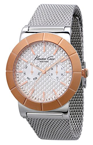 Kenneth Cole KC9228 43mm Gold Plated Stainless Steel Case Steel Bracelet Mineral Men's Watch (Certified Refurbished)