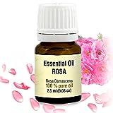 Rosenöl 2,5 ml, 100% ätherisches Rose Öl, Rosa Damascena Bulgarisch, besten für Beauty - Wellness - Schönheit -Aromatherapie – Duftlampen- Raumduft, Rosen Öl von AROMATIKA