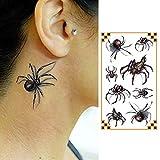 Oottati Tatuaggi Temporanei Ragno 3D Halloween (Set Di 2) immagine