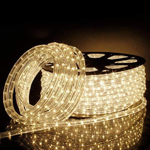 chlauch 50M, Lichtschlauch Lichterkette Licht Leiste 36LEDs/M Schlauch für Innen und Außen IP65 Warmweiß ()