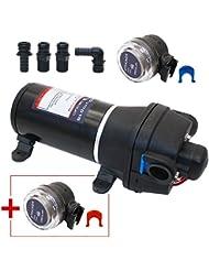 Pompe à eau automatique   Pompe à eau   Pompe de jardin   Pompe pour bateau   Pompe pour Camping-car   Europump 18   17l/min   12 V   incl. 4 élément de connexion et filtre d'aspiration