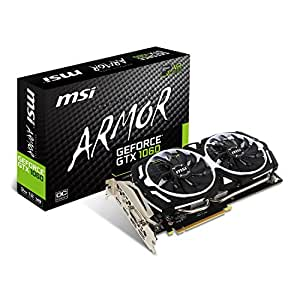 MSI NVIDIA GTX 1060 Armor 3G OCV1 Grafikkarte (HDMI, DP, DL-DVI-D, 2 Slot Afterburner OC, VR Ready, 4K-optimiert)