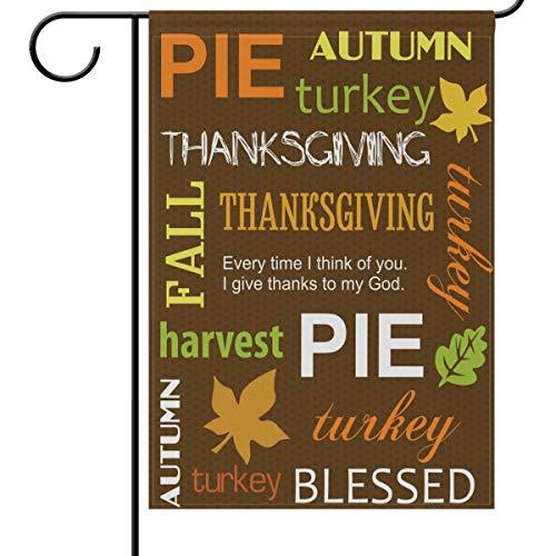 Wamika Thanksgiving Day Gartenflaggen 12 x 18 doppelseitig, Happy Thanksgiving Day Gruß Ernte Willkommen Herbst Herbst Outdoor Hof Haus Flagge Banner Thanksgiving Dekoration 12x18in