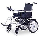 Rollstuhl Elektrischer, Alter Roller, Faltbar, Behindert, Batterie-Moped, vollautomatisch, intelligenter (Farbe : Black)