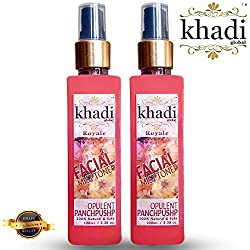 Khadi Global Royale Opulent Panchpushp Facial MIST Toner Extracted From Organic & Fresh Petals Of Rose, Marigold, Bela, Kewda and Saffron 100% Natural & Safe Pack of 2 (200 ml)