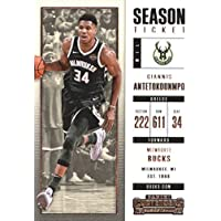2017–18Dépasse Panini Season Ticket # 3Yánnis Antetokoúnmpo Milwaukee Bucks de basket-ball carte