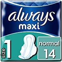 Always Maxi normal compresa con alas, tamaño 1, 8 unidades) (8 x