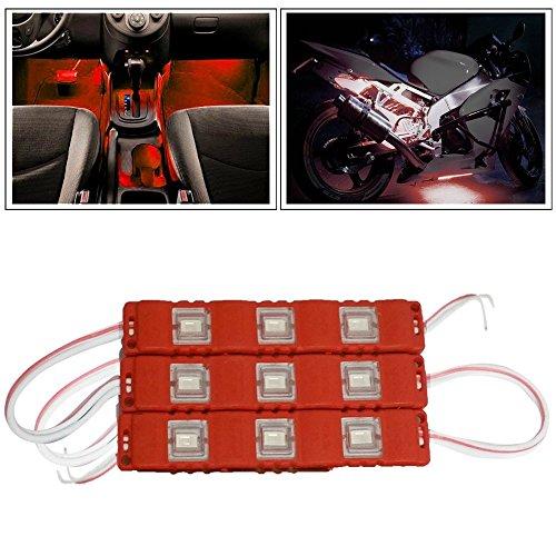 Vheelocityin 9 LED Custom Cuttable Bike/ Car Red Light for...