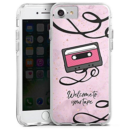 Apple iPhone 7 Bumper Hülle Bumper Case Glitzer Hülle 13 Reasons Reasons Why Kassette Bumper Case transparent