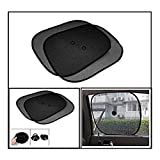 #8: Vheelocityin Black Stick-on Car Sunshades - Set of 2