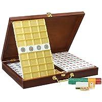 Mahjong Cristal acrílico Gran Tamaño Mahjong casa Tarjeta 39mm ~ 40mm Mano Mahjong en Caja de Madera Mah Jong (Tamaño : 8#)