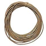 IPOTCH Hallazgos De Cuerdas De Nylon Encerado Cable De Joyería Que Hace 10m 2mm Negro - Beige