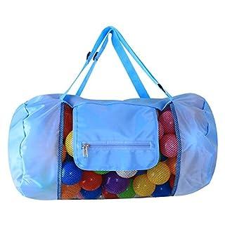 ANGTUO Strand Aufbewahrung Tasche, Portable große Mesh-Strandtasche Kind Strand Sand weg Spielzeug Lagerung Tote Rucksack für Pool und Sandbeach