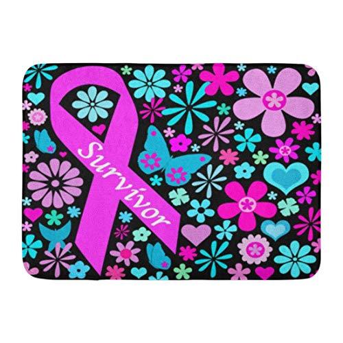 LIS HOME Badematte rosa Bewusstseins-Brustkrebs-Überlebender weibliche Mutter-Tochter-Gesundheits-Badezimmer-Dekor-Wolldecke