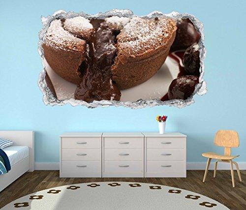 3D Wandtattoo Keks Schokolade Küche Cafe Nachtisch cup cake Wand Aufkleber Durchbruch Stein Wandbild Wandsticker 11N895