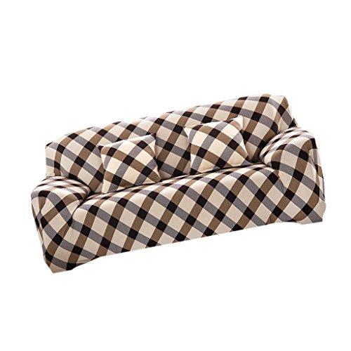 Universal Landhaus Stretch Sofabezüge Sofahusse Couch Husse, Weich und Beque für 3er- Sofa - Prinzessin Ehefrau, 190-230cm (Sofa Slip Cover)