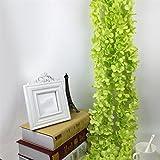 display08Kunstpflanze Blume Aufhängen Girlande Floral Vine Hochzeit Party Decor grün