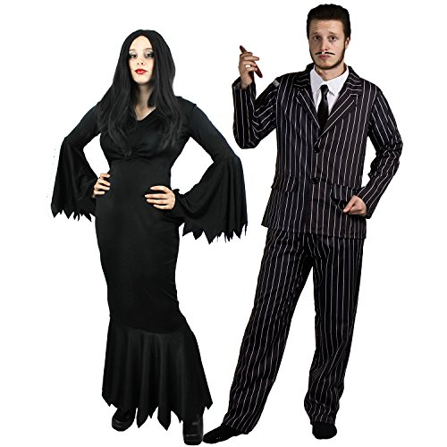 HALLOWEEN GOTHIC PAAR KOSTÜM FÜR MR AND MRS -