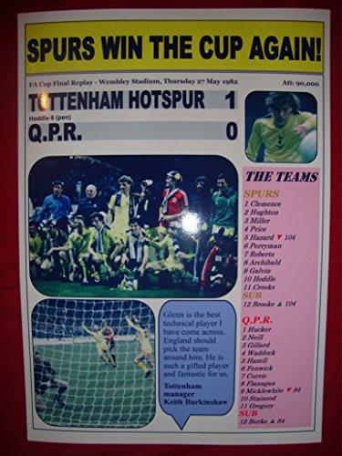 Tottenham Hotspur 1 giftsandpleasures 0-1982 Finale FA Cup-souvenir, -