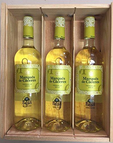 Caja De Madera 3 Botellas - Marques De Caceres - Vino Verdejo
