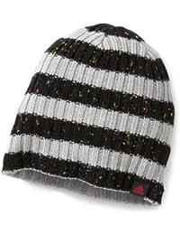 adidas Damen Beanie W Ringel, black/medium grey heather/bright pink f12, OSFW, W56706