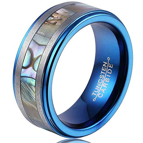 blue-tungsten-carbide-8mm-ring-engagement-wedding-band-abalone-shell-inlay-step-edge-size-r-1-2-epin
