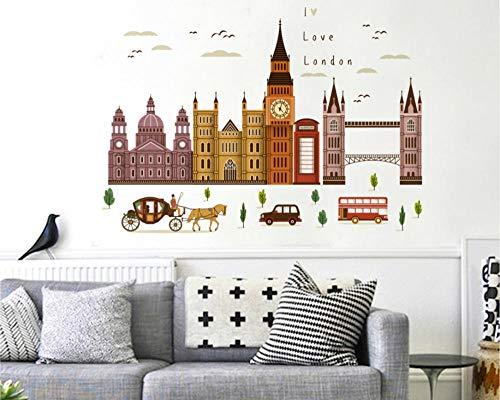 London Big Ben Building Series Wandtattoos Dekorative Wandtattoos -
