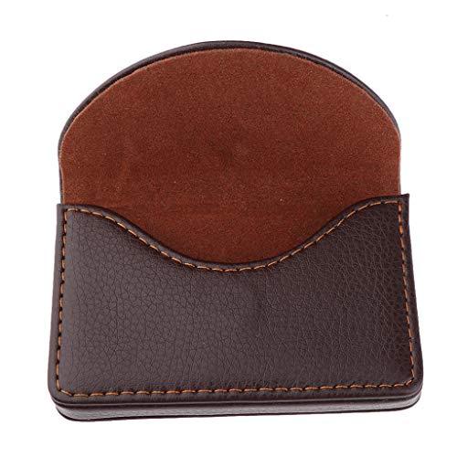 Descripción:       - Material: cuero de la PU, acero inoxidable    - Tamaño: 9.5 x 6.5 x 1.5 cm / 3.7 x 2.6 x 0.59 pulgadas (L x W x T)    - Soporte de cuero para tarjetas de visita de alta calidad, resistente marco de acero inoxidable, aspec...