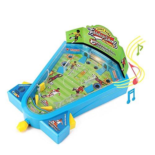 Electrónica luz mármol Pinball juegos de mesa fútbol juguetes Mini futbolín juegos de tiros actividad juguete con música para el aprendizaje de los niños por Wishtime