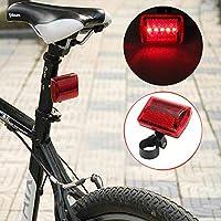 Bazaar 5 LED Radrücklichtrad rotes Blitzlicht hintere Lampe 7 Weise