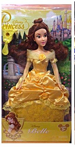 Authentische Disney - Prinzessin Belle klassische Puppe, Glitzern in ihrem schönen ()