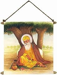 TheYaYaCafe Guru Nanak Dev Ji Photo Painting Scroll Poster Sikh Gifts Divine - 15X20 Inches