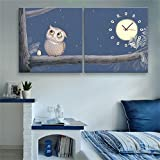 paintings Clocks NAUY-Modern Style Lienzo Pintura bš²ho Reloj de Pared en Lienzo 2 unids
