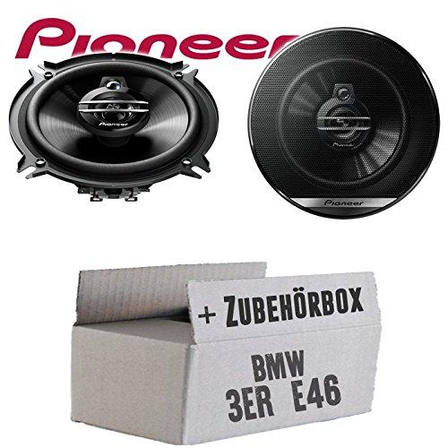 BMW 3er E46 - Lautsprecher Boxen Pioneer TS-G1330F - 13cm 3-Wege 130mm Triaxe 250W Auto Einbausatz - Einbauset