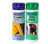 Nikwax Tech Wash and TX. Direct Wash-In Doppelpackung - Durchsichtig, 600 ml