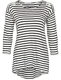 DreiMaster - Camiseta de manga larga - manga 3/4 - para mujer