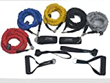 ynxing 12 Widerstandsband Bands Set Kit Fitness Workout Tubes mit Türanker, Griffe, Ankle Straps,, der Fall, für Yoga Pilates Gym Home Fitness Travel Stärke Rehabilitation, schwarz