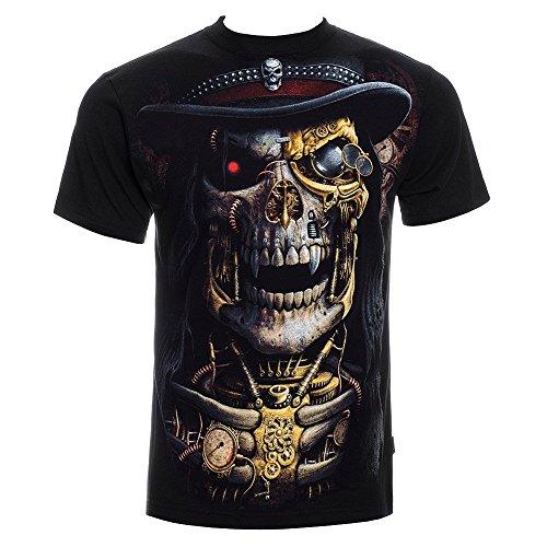 Camiseta gótica Spiral Direct Steam Punk Reaper (negro) - X-Large