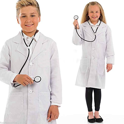 Bata blanca infantil para edades de 10