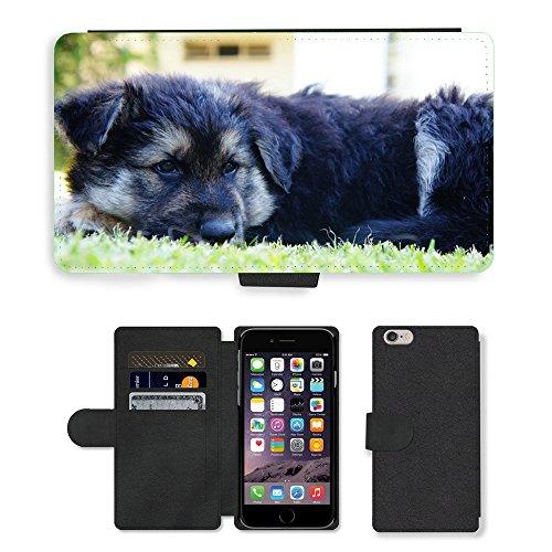 Just Mobile pour Hot Style Téléphone portable étui portefeuille en cuir PU avec fente pour carte//m00138227Puppy Chien Chiot Animal Pet Chien//Apple iPhone 6Plus 14cm